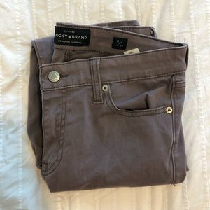 Lucky Brand soft grayish/purple skinny ankle pants
